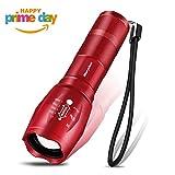 Taschenlampe, Morpilot LED Mini Lampe, 800lm, 5 Licht Modi, IPX4 Wasserfest, mit 3 St. AAA Batterien, für Haushalt, Freizeit, Camping, Wandern und Notfälle