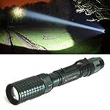 LED Taschenlampe, VANDER 5000 Lumen Extrem Hell Taschenlampe XM-L T6, Zoombar, Einstellbarer Fokus, LED Camping Handlampe, Inklusive 2 x 18650 Batterie oder Akku Und Adapter dabei