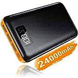 KEDRON Powerbank 24000mAh Externer Akku mit Lighting&Micro 2 Eingänge und...