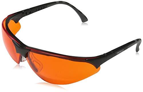 Infield Blaulicht und UV-Schutzbrille TERMINATOR UV 400 Schwarz ORANGE,...
