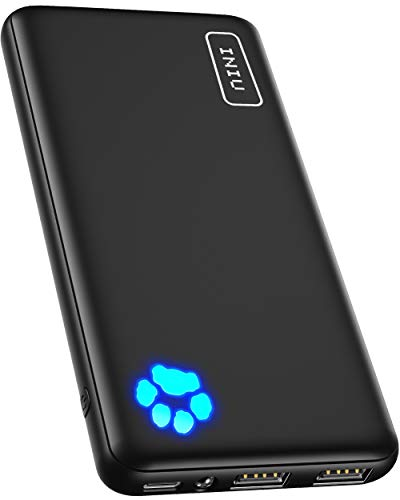 INIU Power Bank, Am schlanksten & leichtesten USB C 10000mAh Externer Akku,...