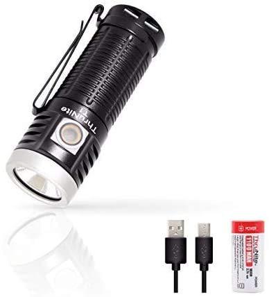 ThruNite T1 LED Taschenlampe 1500 Lumen USB Handlampe Aufladbar mit Magnet...