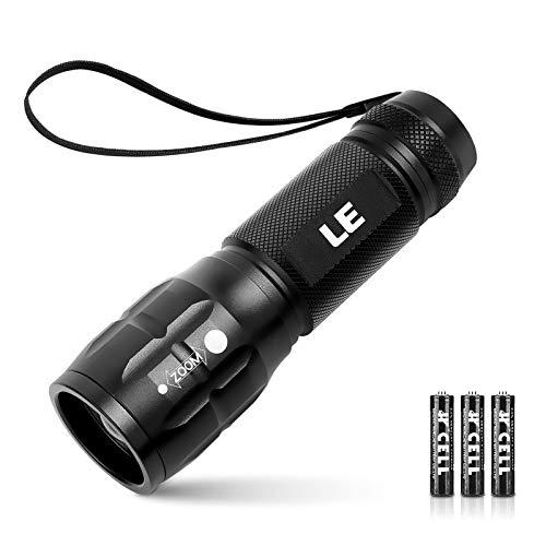 LE LED Taschenlampe, zoombar Taschenlampen für Outdoor, Mini Tragbarer...