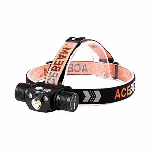 Acebeam H30 Stirnlampe Max 4000 Lumen, kaltweiß + rot + grüne Lichter,...