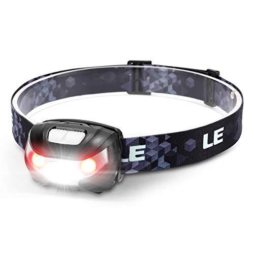 LE Stirnlampe LED Wiederaufladbar, USB Kopflampe 1300 Lux mit Rotlicht& 5...