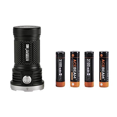 ACEBEAM X80 Taschenlampe 25000 Lumens 5 Farben Lichtstrahl LED Taschenlampe...