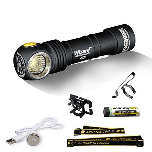 Armytek Wizard XP-L Kaltweiss LED-Lampe Magnet USB 18650 Li-Ion Akku...