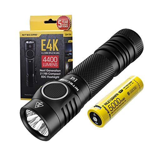 Nitecore E4K - LED Taschenlampe Extrem Hell - 4400 Lumen IP68 LED...