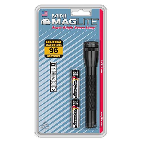 MAGLITE Mini Maglite Glühlampe 2AA Taschenlampe schwarz
