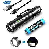 WUBEN C3 LED Taschenlampe Extrem Hell USB C Aufladbar 1200 Lumen IP68...