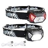 LE Stirnlampe LED Wiederaufladbar, 2000 Lux Superhell Kopflampe mit...