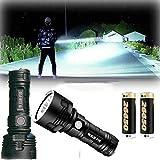 LED Hand Taschenlampe wiederaufladbar, 30000-100000 Lumen Hochleistungs-LED...