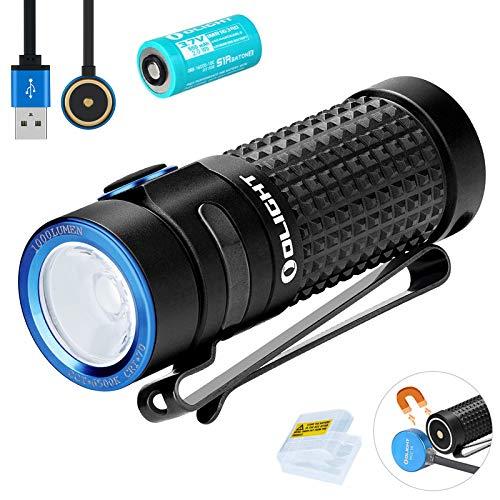 Olight S1R Baton II Mini Taschenlampe 1000 Lumen Kaltes Weiß LED Kompakt...