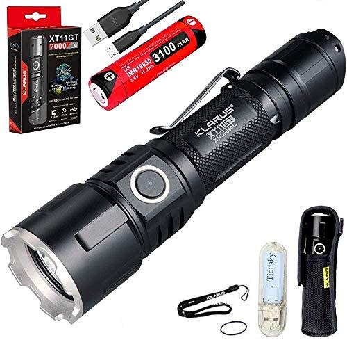 Klarus XT11GT Taktische Taschenlampe Kaltes Weiß LED Maximale Ausgabe 2000...