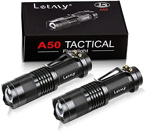 Mini LED Taschenlampe, PUAIDA Superhelle Zoombar LED Taschenlampen mit 3...