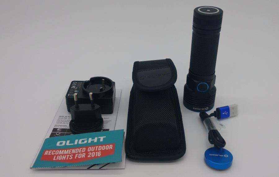 Olight R50 Pro Seeker LED Taschenlampe mit Zubehör