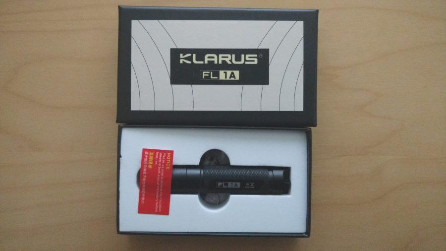 Klarus FL1A mit Box