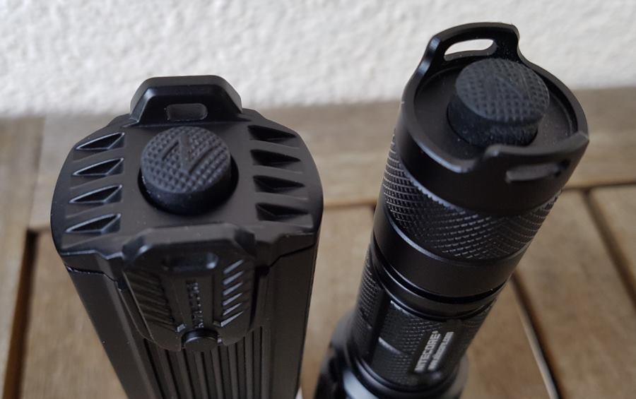 Nitecore SRT7GT und SRT9 Tail Switch im Vergleich