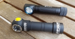 Die Stirnlampen Armytek Wizard Pro und Olight H2R Nova im Vergleich