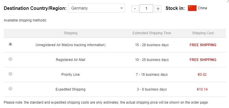 GearBest Lieferzeit und Versandkosten am Beispiel Nextorch TA30