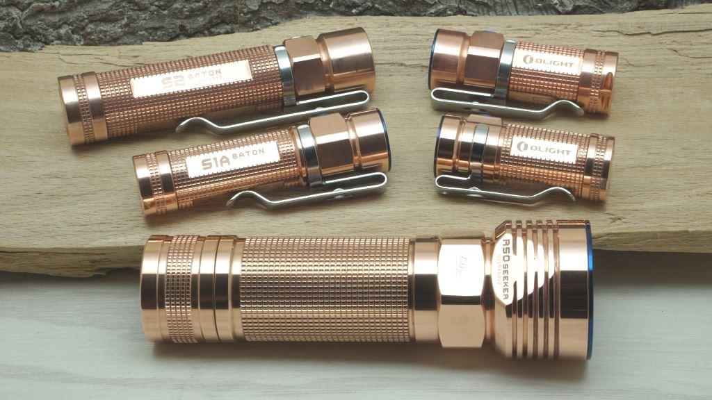 LED Taschenlampen aus Kupfer