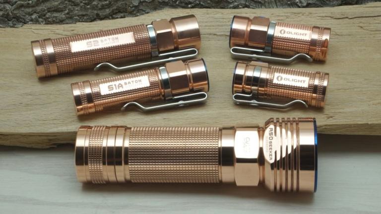 Alle Taschenlampen aus Kupfer sind gereinigt
