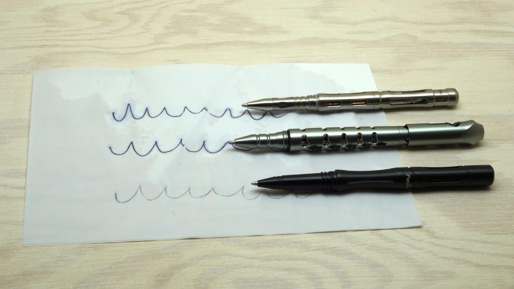 Tactical Pens schreiben auf nassem Papier