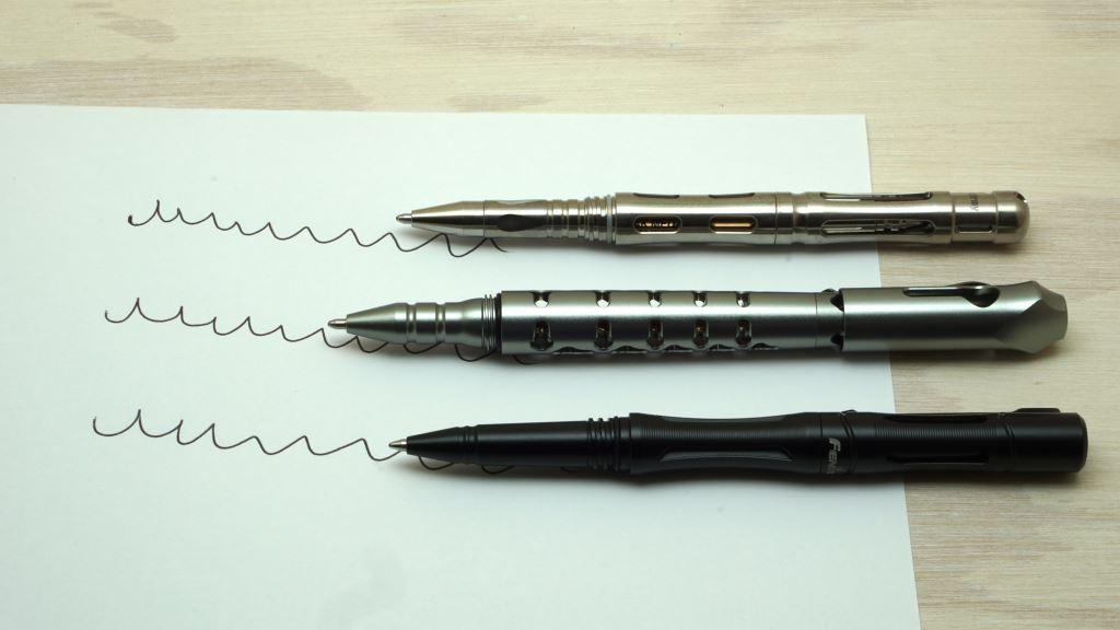 Tactical Pens schreiben auf normalem Papier