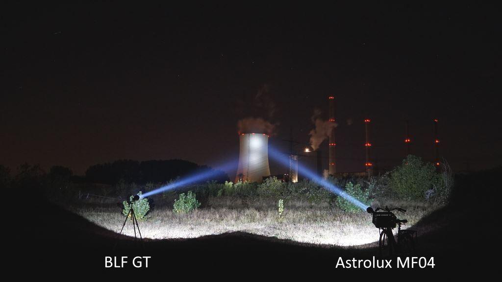 BLF GT und Astrolux MF04 beleuchten Kraftwerk aus 800 Metern