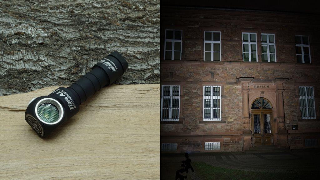 Armytek Tiara A1 Pro V2 LED Taschenlampe und Beamshot