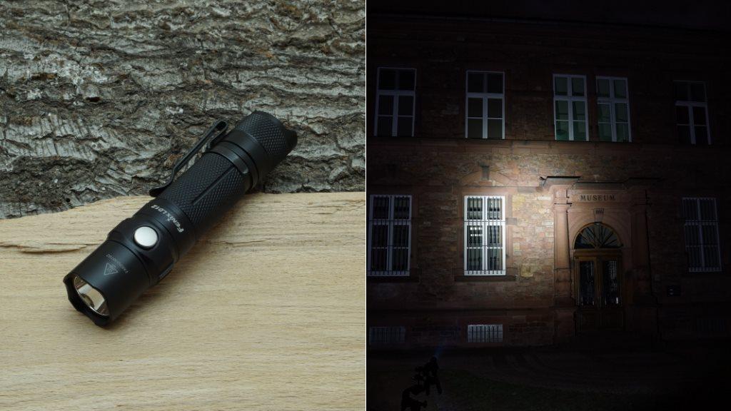 Fenix LD12 LED Taschenlampe und Beamshot