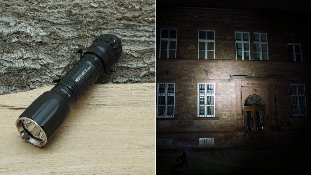 Nextorch TA15 LED Taschenlampe und Beamshot