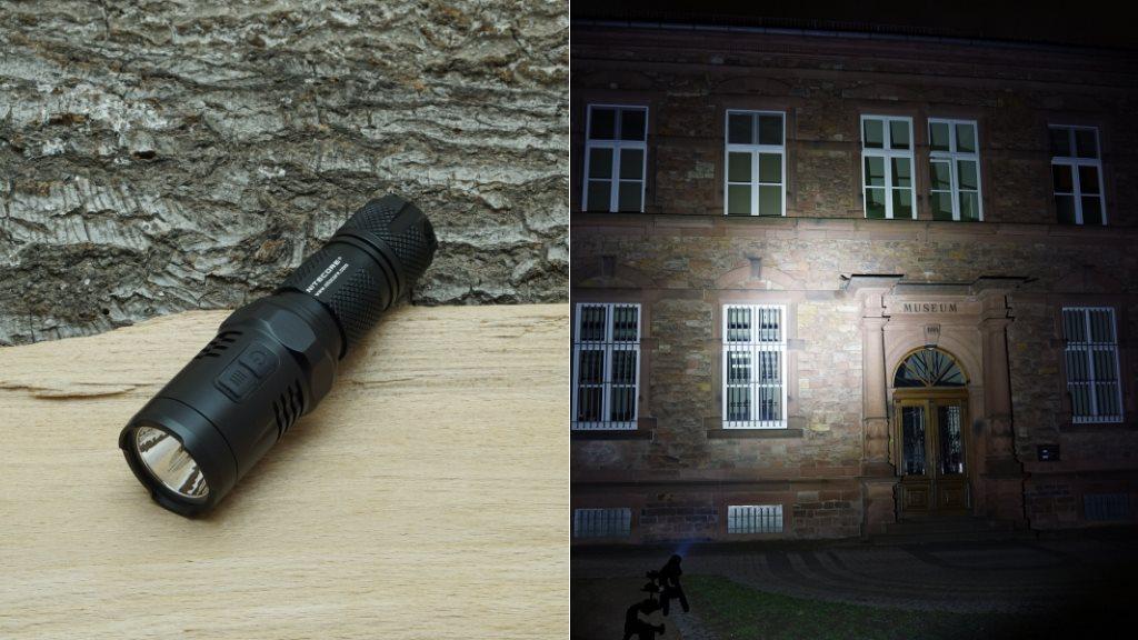 Nitecore EA11 LED Taschenlampe und Beamshot