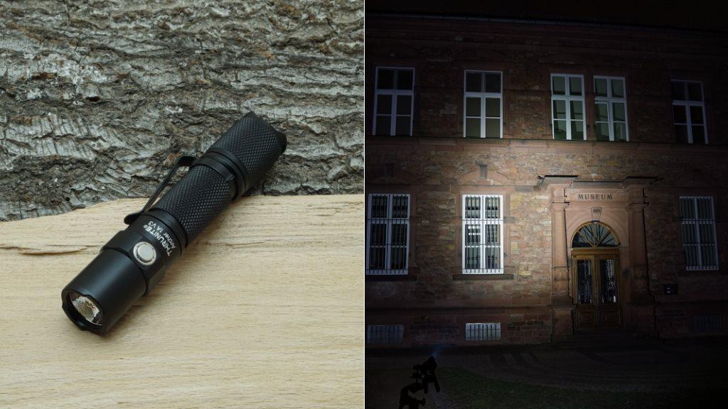 Thrunite Archer 1AV3 LED Taschenlampe und Beamshot