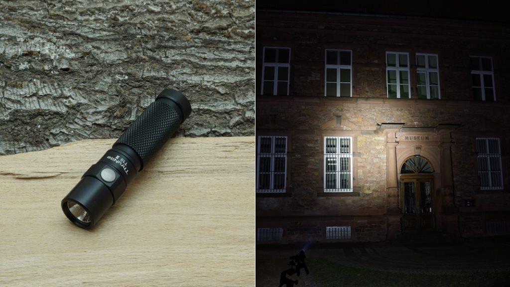 Thrunite T10 II LED Taschenlampe und Beamshot