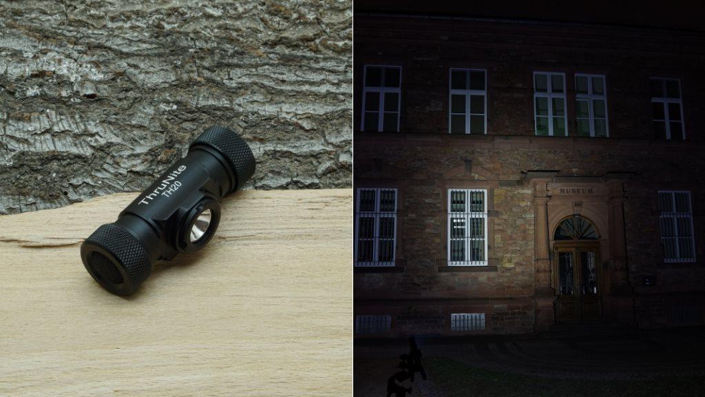 Thrunite TH20 LED Taschenlampe und Beamshot