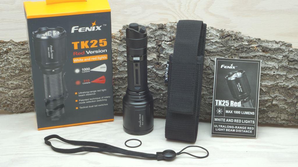 Jagd Taschenlampe Fenix TK25 Red Version Lieferumfang