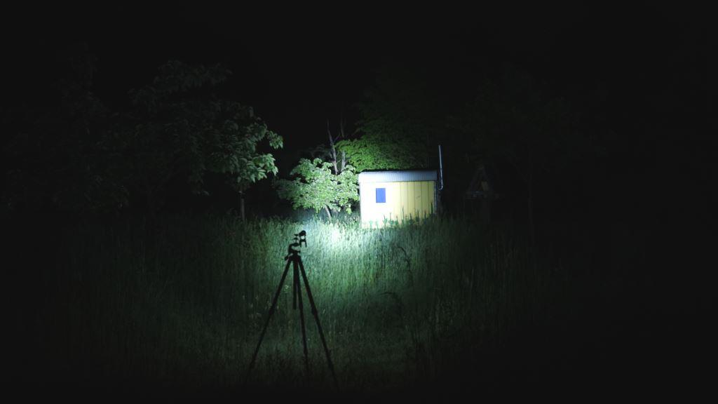 Jagd Taschenlampe Ledlenser MT14 Beamshot fokussiert