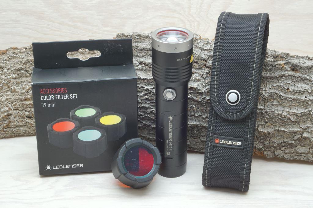 Ledlenser MT14 mit farbigen Filtern