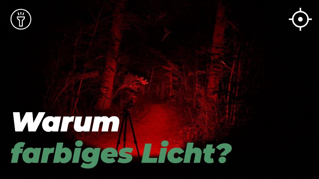 Warum soll eine Jagd Taschenlampe farbiges Licht haben?