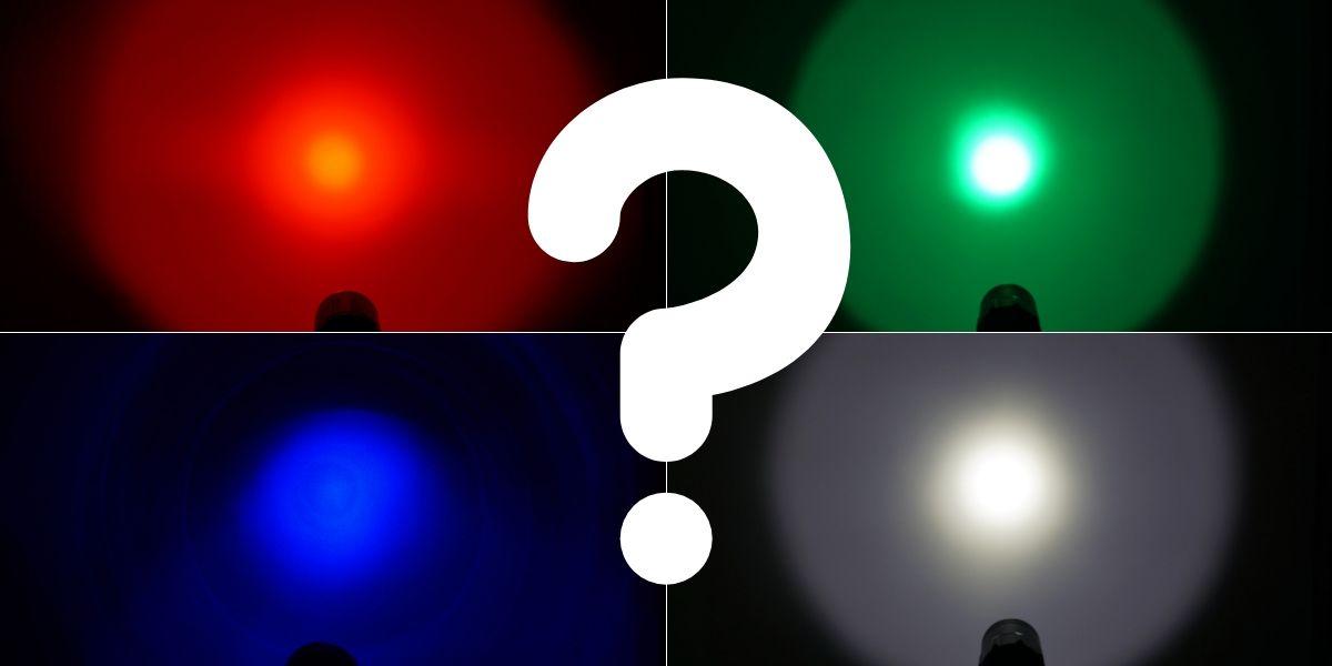 Wie wird farbiges Licht in einer Jagd Taschenlampe erzeugt?